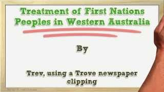 Treatment of First Nations Peoples in Western Australia