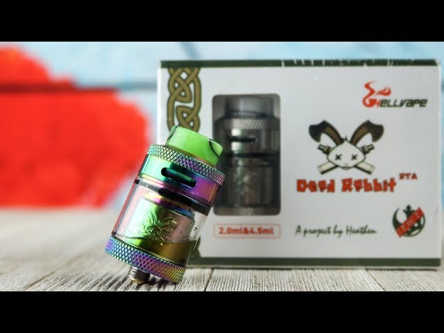 HellVape & Heathen Dead Rabbit RTA Review w/ Build&Wick Tutorial