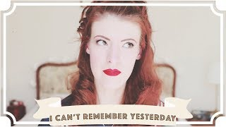 I can't remember yesterday... [CC]