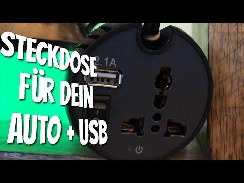 Die Steckdose für das Auto - Aukey Wechselrichter 150W 230V mit USB Anschluss im Test Review