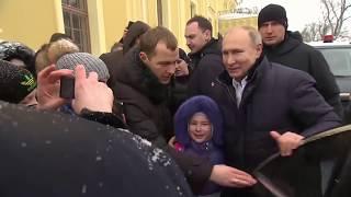 Путин успокоил плачущую девочку в Петербурге - МИР 24