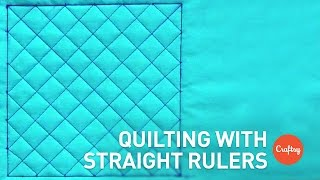 Quilting With Straight Rulers: Crosshatch Design | Machine Quilting Tutorial With Amy Johnson