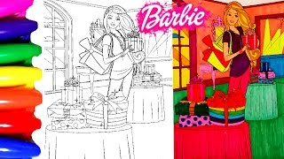 Disney Princess Barbie Chelsea In A Coloring Pages For Children To Learn Art And Colors