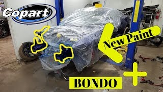 Rebuilding a Wrecked Ford Mustang Gt350r bought from Copart Part 4