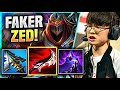 FAKER IS BACK WITH HIS ICONIC ZED! - T1 Faker Plays Zed Mid vs Jayce! | Season 11