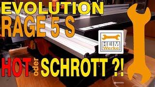 HOT or SCHROTT ?! Evolution Rage 5 s Tischkreissäge eine Alternative!
