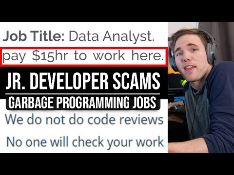 JR. DEVELOPER SCAMS - GARBAGE PROGRAMMING JOBS | #grindreel