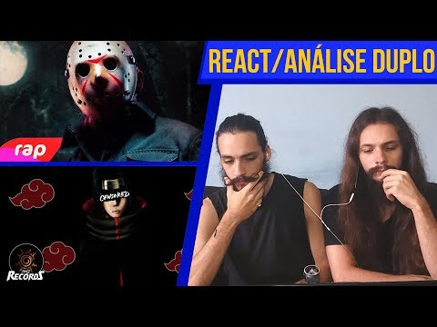 [REACT/ANÁLISE] 7 MINUTOZ DUPLO: RAP DO JASON + AKATSUKI