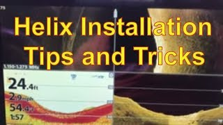 Humminbird Helix Installation and Mounting Tips