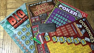 BIG MONEY, CASH WANTED, JOKERS WILD POKER & DOMINOES California Lottery Scratcher Tickets