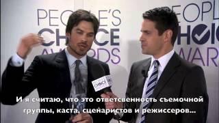Иэн Сомерхолдер, Ian Somerhalder wins Favorite Sci/fi Tv actor PCA 2014 (Rus Sub)