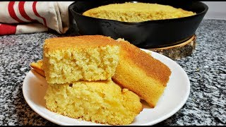 Easy Cornbread Recipe | How To Make Soft Fluffy Cornbread