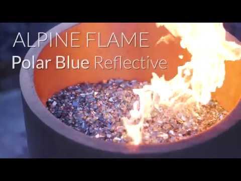 Alpine Flame Polar Blue Reflective Fire Glass