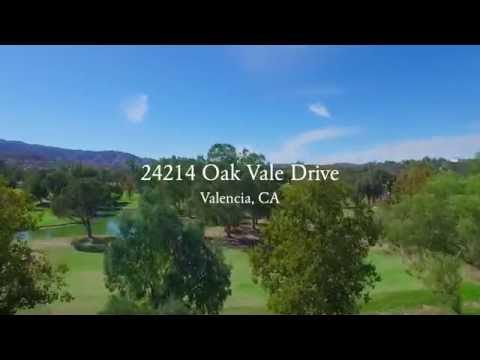 Valencia Golf Course Home For Sale 24214 Oak Vale Drive 91355