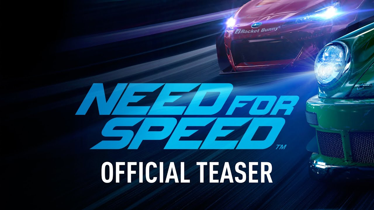 Trailer For New Need For Speed Game Is Basically Just Guys Shouting At Fast Cars