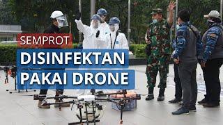 Pemerintah Kota Jakarta Selatan Lakukan Penyemprotan Disinfektan Menggunakan Drone