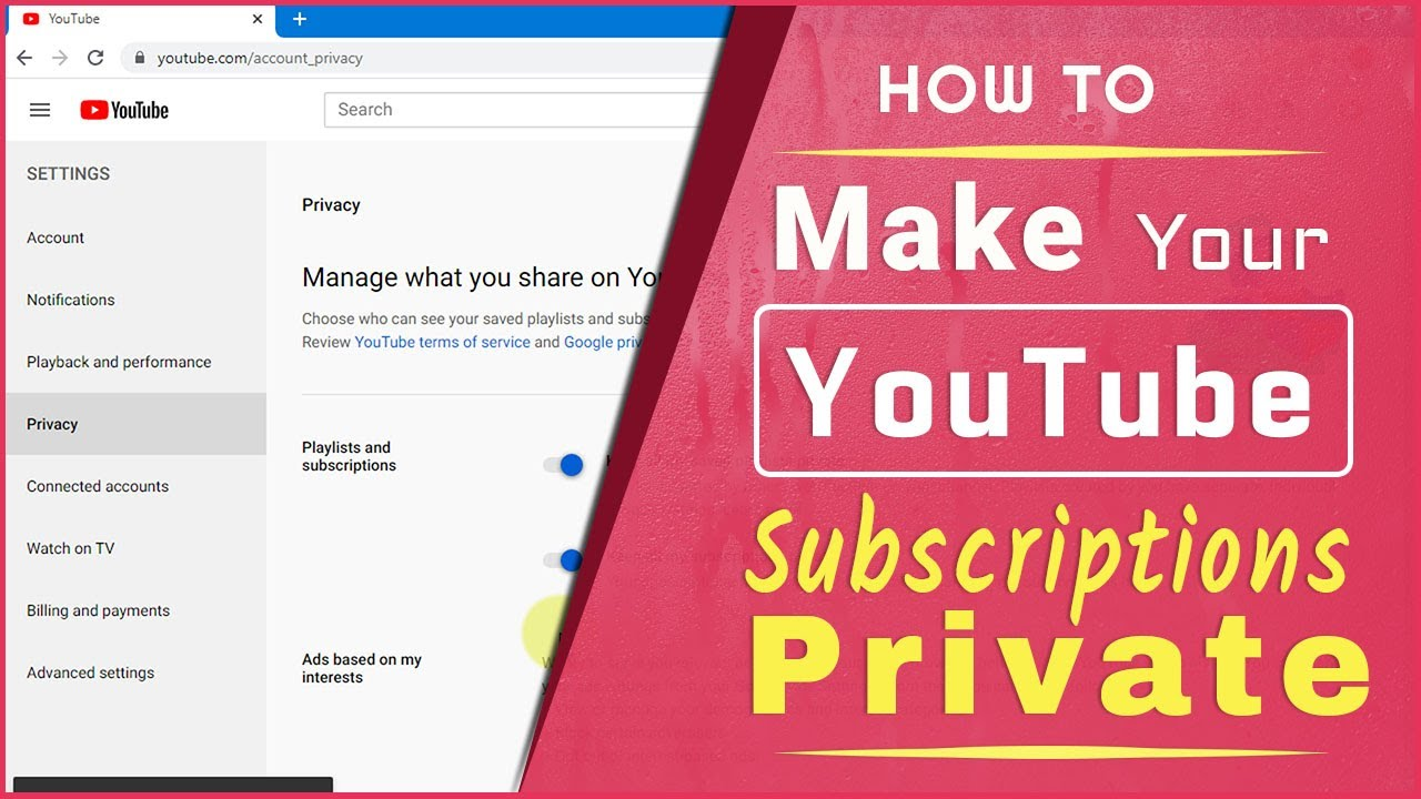 How To Make Your YouTube Subscriptions Private (2020)