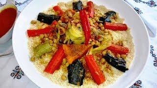 المطبخ المبسط   كسكس مغربي بالخضر واللحم بطريقة مبسطة وناجحة   Couscous Marocain