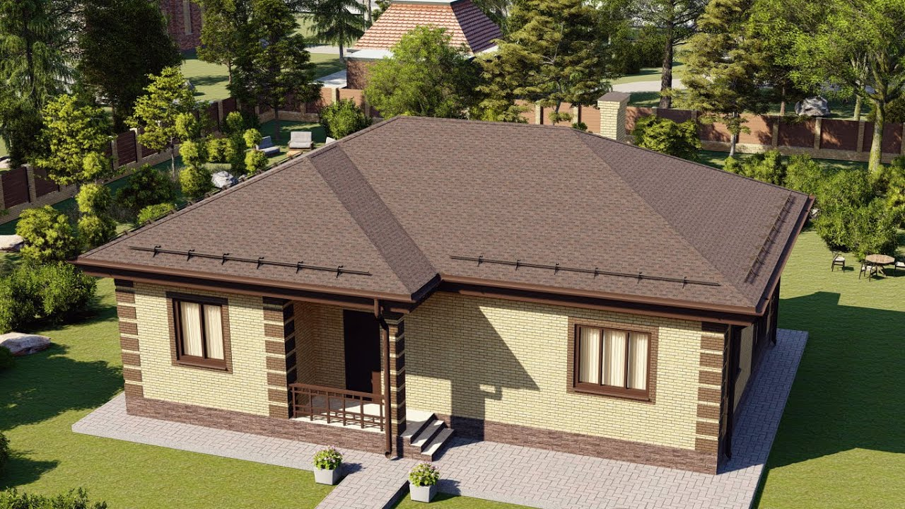 Одноэтажный дом из газобетона 100 м2