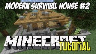 Minecraft Tutorial Hd Modern Survival House 2 Minecraftvideos Tv