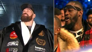 Deontay Wilder reacts hilariously to Tyson Fury's epic ring walk - Video Youtube