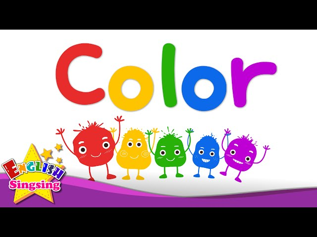 Kids Vocabulary Color Mixing Rainbow Colors English Educational Video