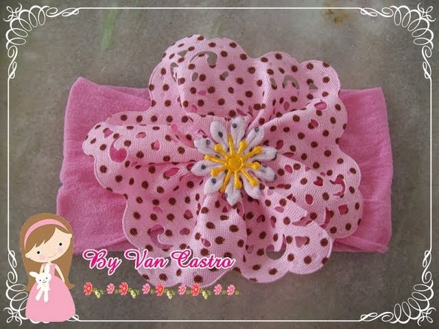 Passo a passo faixa meia de seda – passo a passo flor tecido por Vanessa  Castro  2165b8e46bf