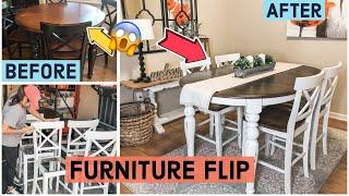 Furniture Flip   Dinning Room Table Redo  Trash To Treasure