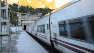 preview picture of video 'Renfe Talgo Barcelona-Murcia a Vallcarca'