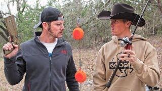 DEMO RANCH CHALLENGE DUEL! (Pistol vs Fishing Rod)