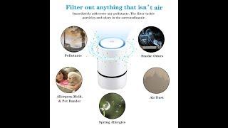 Saubere Luft erzeugen? Luftreiniger Aktivkohlefilter HEPA-Kombifilter, Ionisator AFBEST Air Purifier