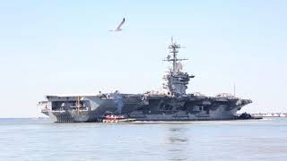 B-Roll: USS Abraham Lincoln (CVN 72) departs for Hurricane Irma relief efforts