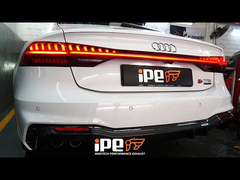 The iPE exhaust for Audi A7 C8