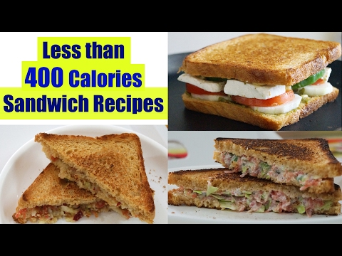 Video 4 Healthy Sandwich Recipes | Weight Loss Recipes | Healthy Breakfast Ideas in Hindi