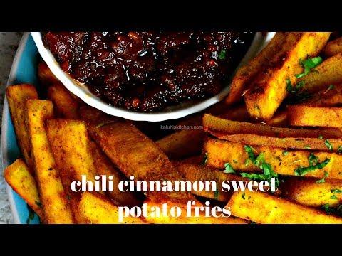 BOMBEST SWEET POTATO FRIES | CHILI CINNAMON SWEET POTATO FRIES | KALUHI'S KITCHEN