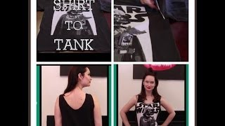 How To Turn A Mens T Shirt Into A Tank Top The Rachel Dixon Tutorial DIY Darth Vader