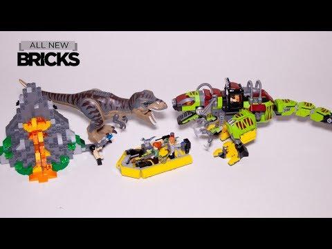 Lego Jurassic World 75938 T. rex vs Dino-Mech Battle Speed Build