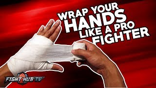How to wrap your hands like a professional fighter- Boxing & MMA - detailed method