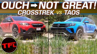 Both The Volkswagen Taos AND Subaru Crosstrek REALLY Struggle Off-Road, But Which One Does Better?