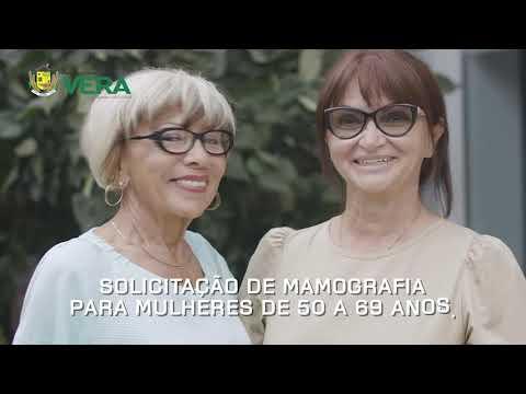 Imagen da Vídeo - Prefeitura de Vera Outubro Rosa Cuidando da saúde da Mulher Verense.