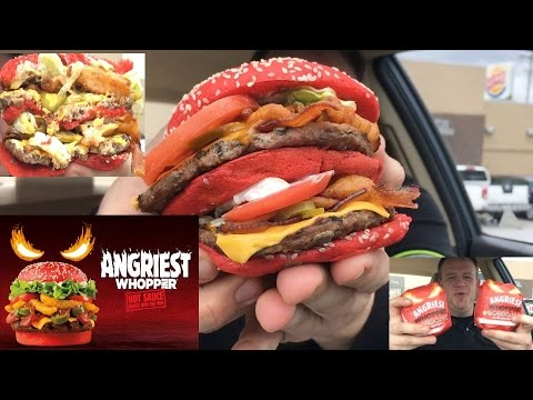 BURGER KING ☆BIG MacAngriest Whopper☆ Food Review!!!