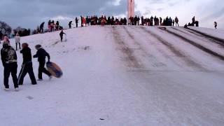 Papal cross snow dublin 2010
