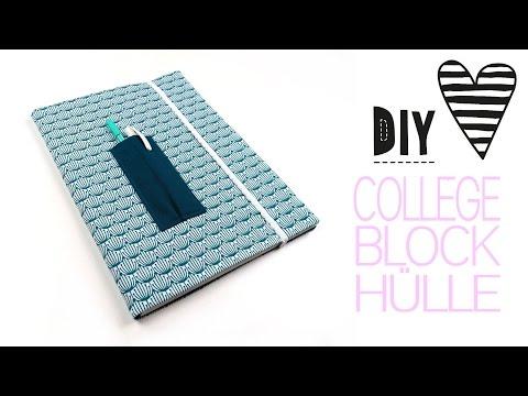 DIY Collegeblock Hülle nähen / Back to school