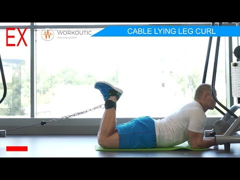 Workoutic - Hamstrings Exercise - CABLE LYING LEG CURL
