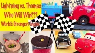 Thomas Vs. Lightning McQueen! Who Will Win? World's Strongest Engine!