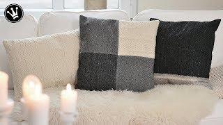 DIY - Kissen aus Strick-Pullover nähen | TRICK &TIPP für das Nähen von elastischen Stoffen