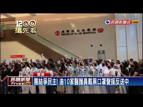 香港反送中三罷 示威者蛋洗旺角警署-民視新聞