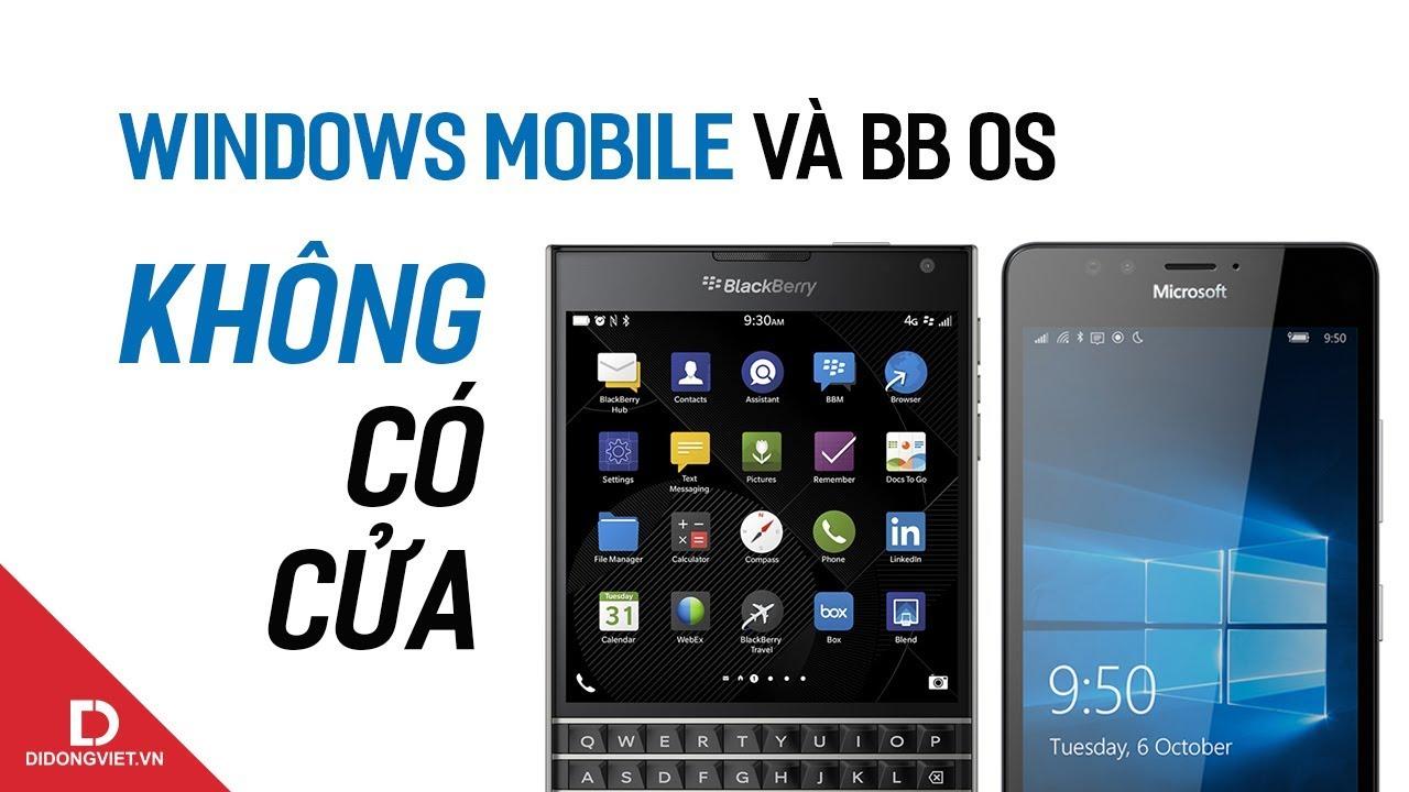Windows Phone, BlackBerry và tính thanh lọc nền tảng HĐH trong kỷ nguyên hiện đại