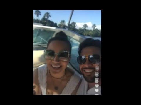 Solange Almeida em lua de Mel de casamento escondido em Barreirinha MA