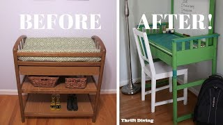 I Repurposed A Changing Table Into A Desk: Furniture Makeovers - Thrift Diving